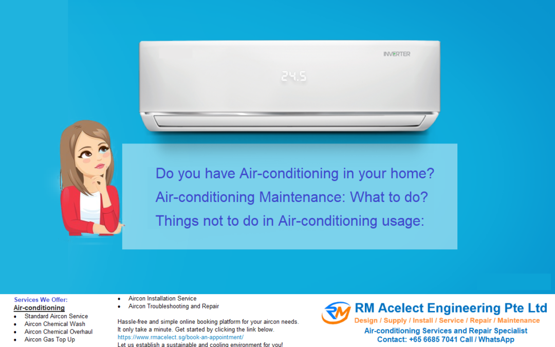 Thinking for when to service aircon